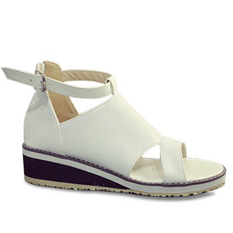 Fashion Wedge Heel and PU Leather Design Sandals For Women