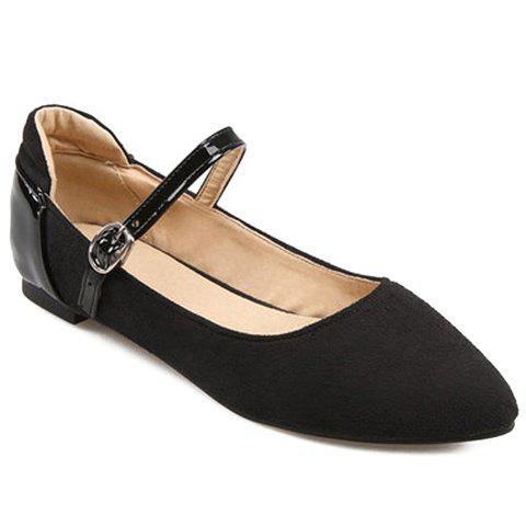 Trendy Splicing and Solid Color Design Women's Flat Shoes - BLACK 36
