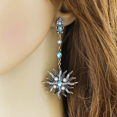 Pair of Charming Exaggerated Faux Pearl Drop Earrings For Women