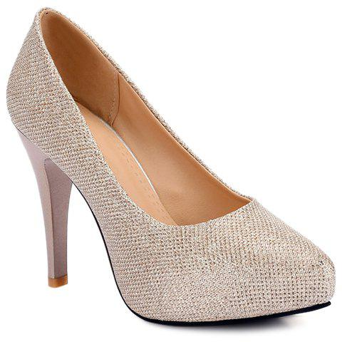 Fashionable Platform and Sequined Cloth Design Women's Pumps