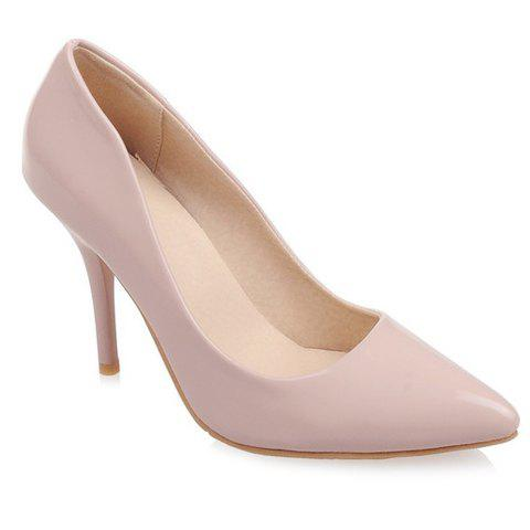 Elegant Pointed Toe and Patent Leather Design Pumps For Women - APRICOT 35