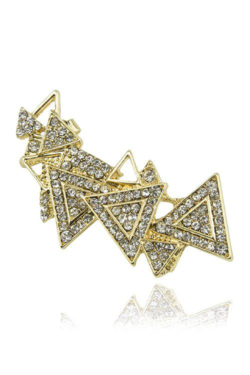 ONE PIECE Delicate Rhinestoned Triangle Earring For Women - GOLDEN