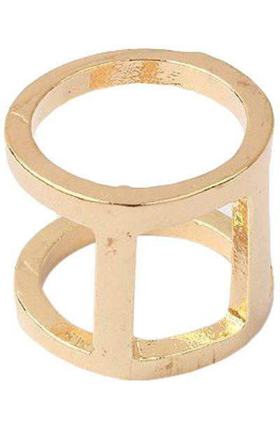 Punk Two Layered Arthrosis RingJewelry<br><br><br>Size: ONE-SIZE<br>Color: GOLDEN