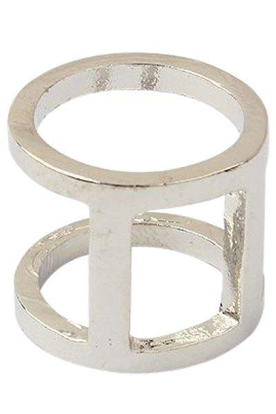 Punk Two Layered Arthrosis Ring - SILVER ONE-SIZE