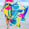 Chic Big Flower Painting Pattern Women's Chiffon Sarong - ROSE