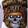 Extraordinary Round Neck Letters Print Skull Pattern Short Sleeve Men's T-Shirt - WHITE 2XL