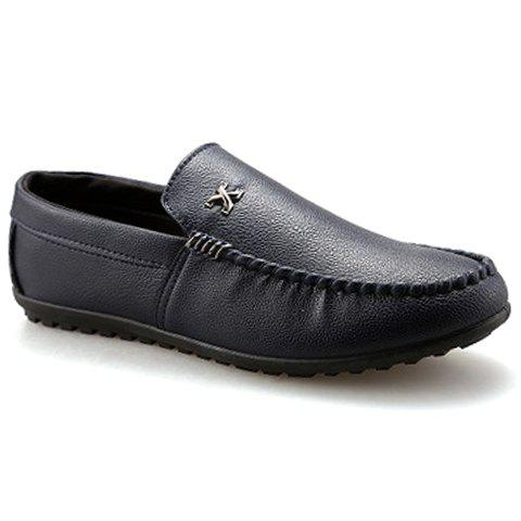 Stylish Stitching and Metal Design Men's Casual Shoes - BLACK 40