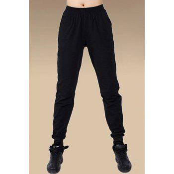 Brief Pure Color Elastic Waist Women's Pants