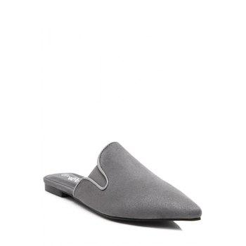Simple Solid Color and Pointed Toe Design Slippers For Women - 39 39