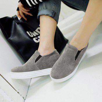 Simple Solid Colour and Suede Design Women's Wedge Shoes - 37 37