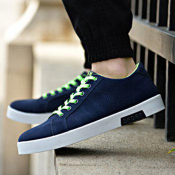 Simple Cotton Fabric and Lace-Up Design Sneakers For Men - 40 40