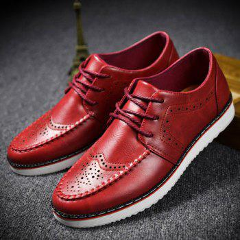 Fashion Engraving and PU Leather Design Casual Shoes For Men - 41 41