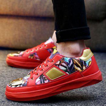 Trendy Metal and Butterfly Pattern Design Men's Casual Shoes - 39 39