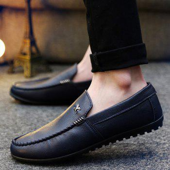 Stylish Stitching and Metal Design Men's Casual Shoes - BLUE BLUE