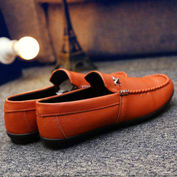 Stylish Stitching and Metal Design Men's Casual Shoes - 39 39