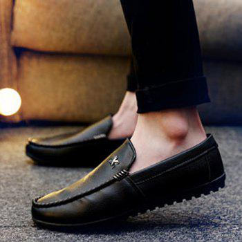 Stylish Stitching and Metal Design Men's Casual Shoes - 40 40