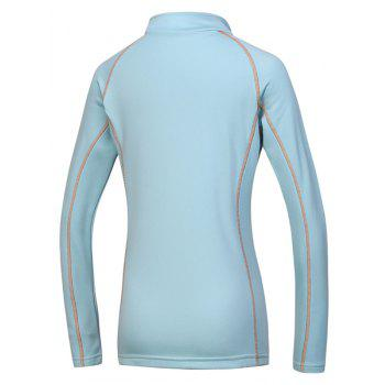 Active Stand Collar Long Sleeve Sport T-Shirt For Women - S S