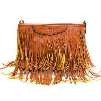 Trendy Metal and Fringe Design Women's Crossbody Bag