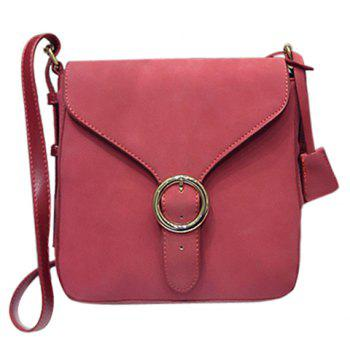 Trendy Solid Colour and Buckle Design Women's Crossbody Bag