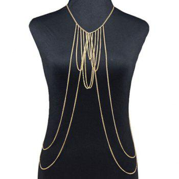 Buy Multilayered Body Chain GOLDEN