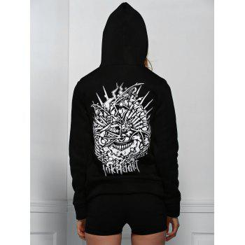 Stylish Long Sleeve Hooded Letter Pattern Printed Women's Hoodie