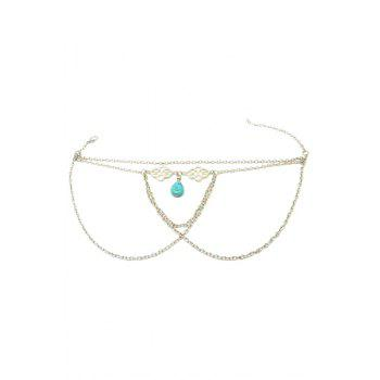 Trendy Ethnic Turquoise Water Drop Arm Chain Jewelry For Women