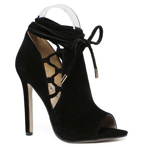 Fashion Lace-Up and Peep Toe Design Pumps For Women