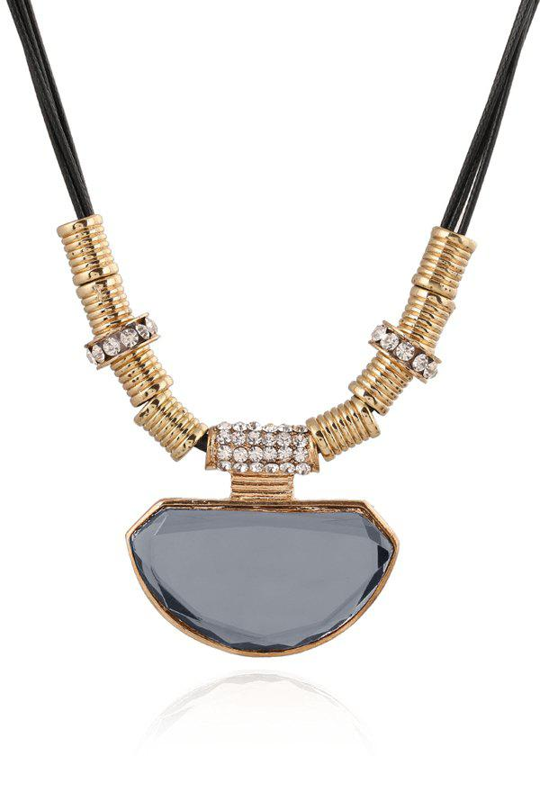 Noble Faux Crystal Polygon Decorated Necklace For Women