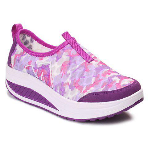 Casual Slip-On and Printed Design Sneakers For Women - PURPLE 39
