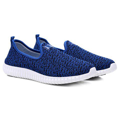 Trendy Cloth and Slip-On Design Casual Shoes For Men - AZURE 42