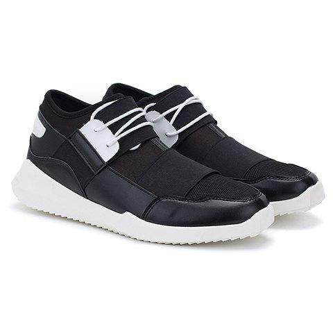Fashion Splicing and Slip-On Design Casual Shoes For Men - BLACK 42