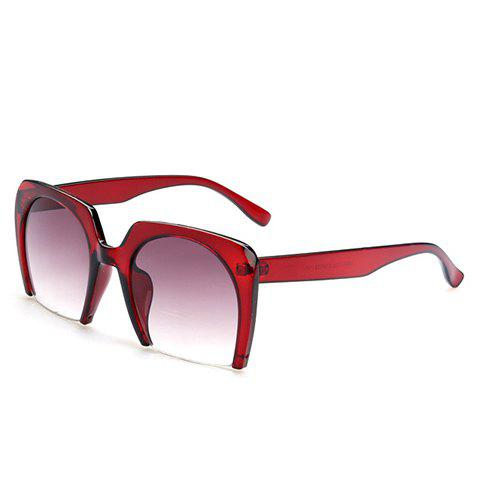 Chic Semi-Rimless Frame Women's Sunglasses - RED