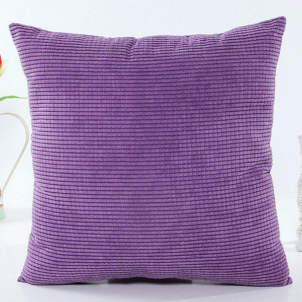 High Quality Solid Color Square Shape Purple Pillow Case(Without Pillow Inner)