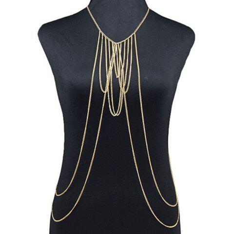 Punk Style Multilayered Body Chain For Women