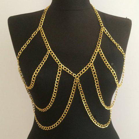 Charming Alloy Hollow Out Body Chain For Women - GOLDEN