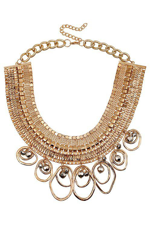 Stylish Chunky Arc Oval Drop Necklace For Women