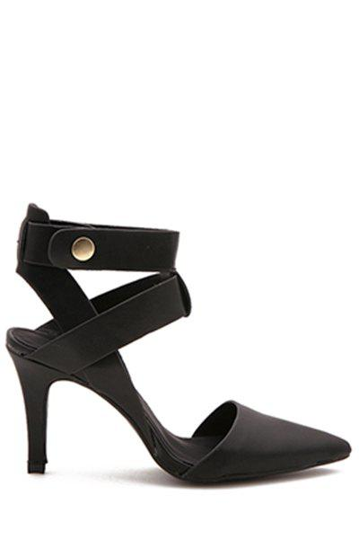 Trendy Pointed Toe and Black Design Sandals For Women