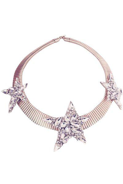 Charming Rhinestoned Star Torque For Women