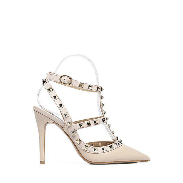 Sexy Strap and Rivet Design Pumps For Women
