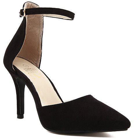 Trendy Solid Colour and Two-Piece Design Women's Pumps - BLACK 38
