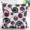 High Quality Square Shape Swirl Pattern Signature Cotton Pillow Case(Without Pillow Inner) - COLORMIX