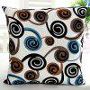 High Quality Square Shape Colorful Swirl Pattern Signature Cotton Pillow Case(Without Pillow Inner) - COLORMIX