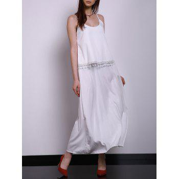 Spaghetti Strap White Sundress For Women