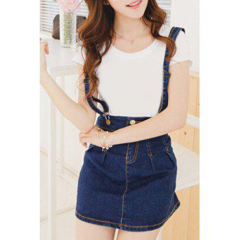 Trendy High Waist Dungaree Dress  For Women