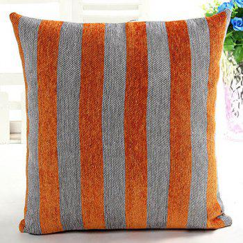 High Quality Square Shape Chenille Stripe Pattern Pillow Case(Without Pillow Inner)