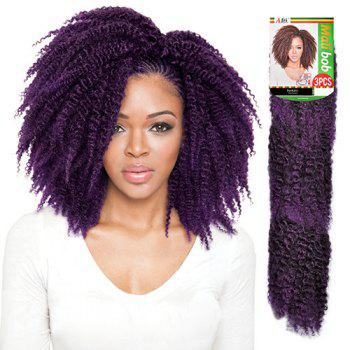 3PCS Shaggy Afro Curly Stunning Short Heat Resistant Fiber Braiding Hair Extension For Women