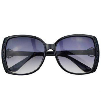 Buy Chic Triangle Diamond Shape Embellished Sunglasses Women BLACK