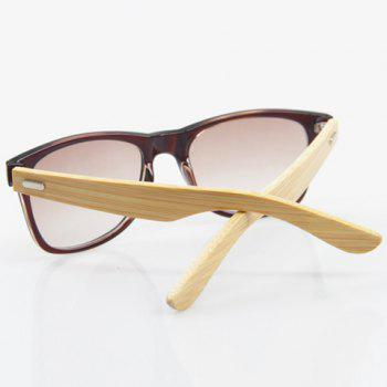 Stylish Tea-Color Frame and Bamboo Leg Design Men's Sunglasses -  TEA COLORED