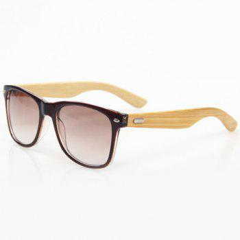 Stylish Tea-Color Frame and Bamboo Leg Design Men's Sunglasses - TEA-COLORED TEA COLORED