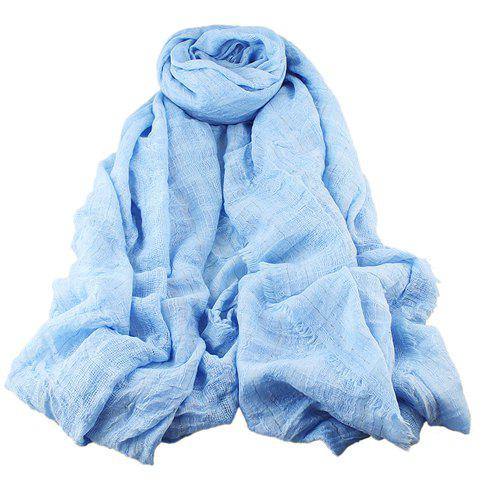 Stylish Fringed Embellished Solid Color Voile Scarf For Women